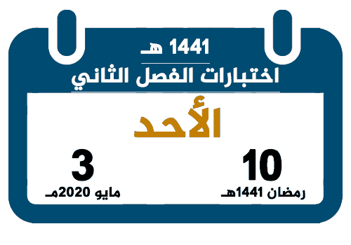 بداية اختبار الفصل الدراسي الثاني 1441 تقويم السعودية