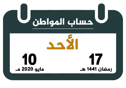 حساب المواطن رمضان 1441 مايو 2020 تقويم السعودية
